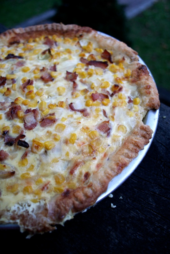 Corn and Bacon Quiche (featuring the utilization of our ...