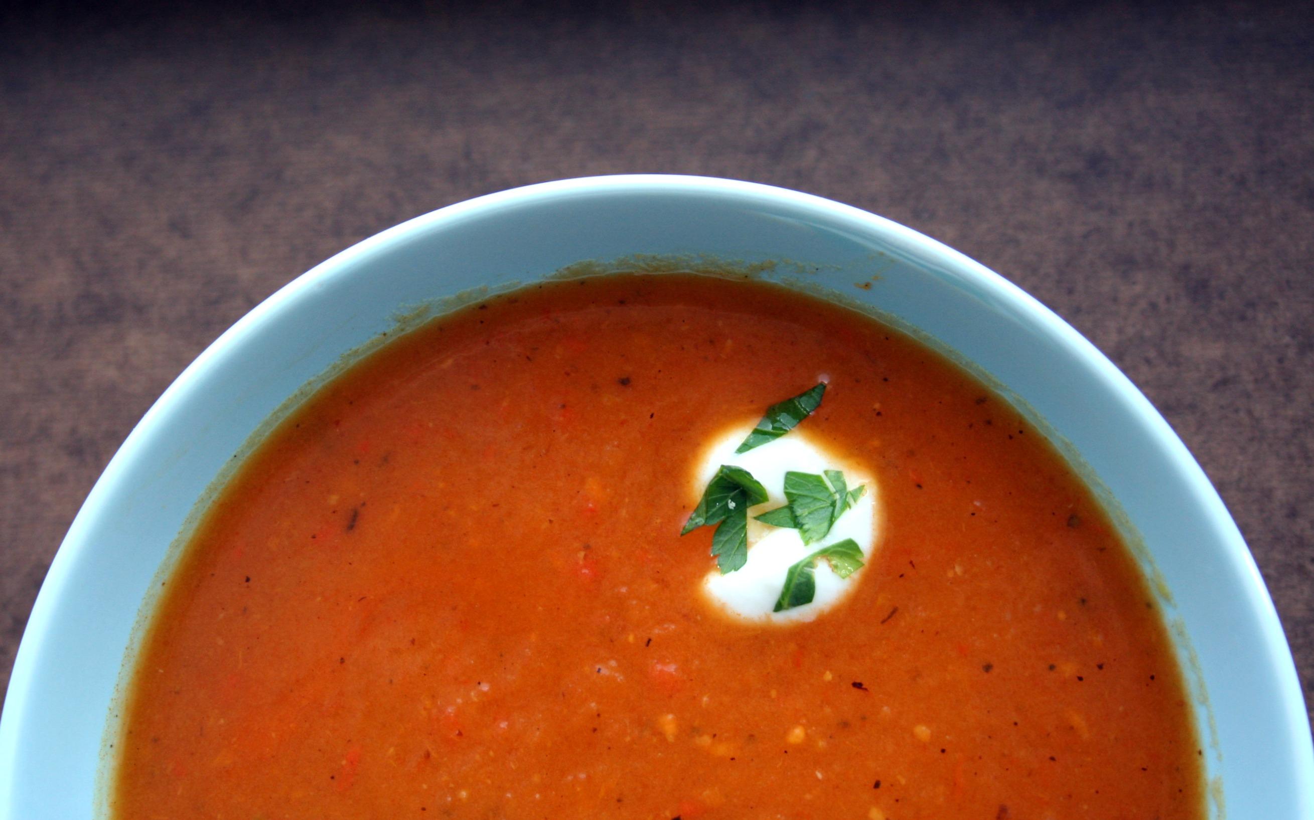 Roasted Red Pepper Potato Soup Recipe — Dishmaps