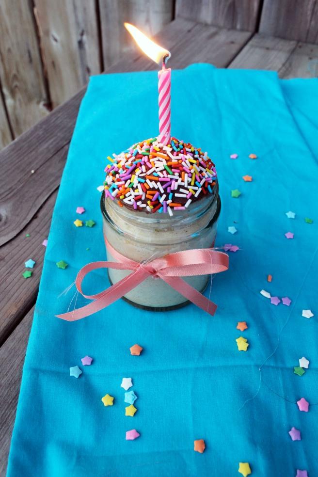 Birthday Cake In A Jar Hilary Makes