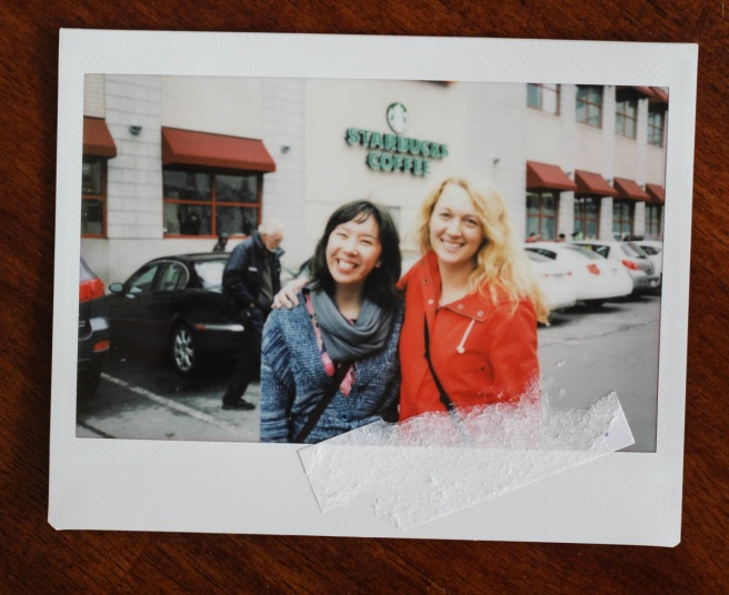 Freya and I in the Byward Market, halfway through beautiful spring walk