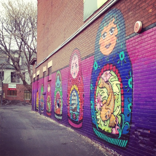 A new (to me) Russian nesting dolls mural in the Glebe