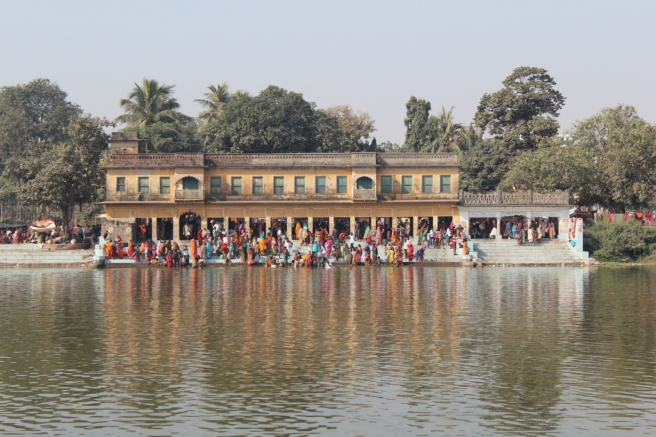 Danush Sagar, the largest ceremonial tank in Janakpur, where the pilgrims went to bathe.