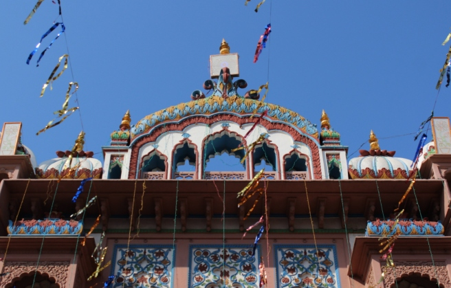 The entrance way of Janaki Mandir, decorated for the festival.