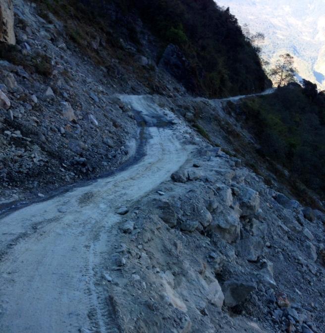 Potholes ahead.