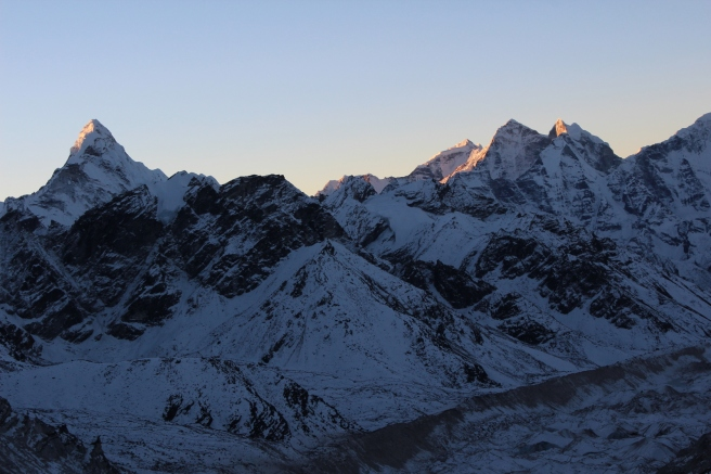 Sunrise over Kala Patar (5,550 metres)