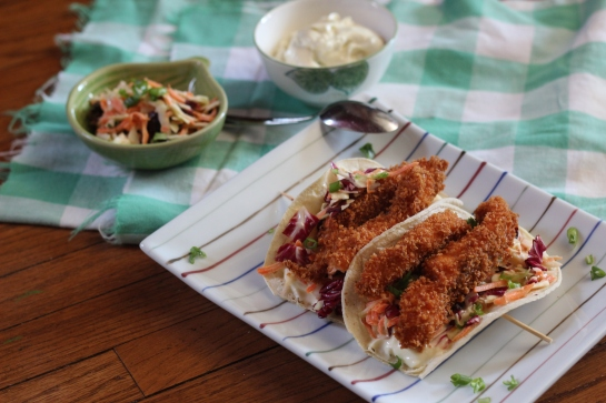 One of The Motley Kitchen bistro menu items: fish tacos.