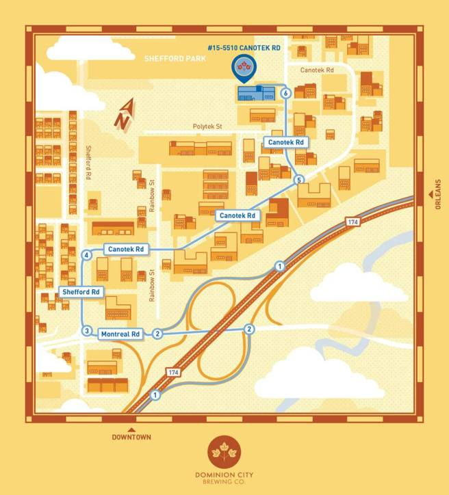 Directions on how to get to Dominion City Brewing Co.