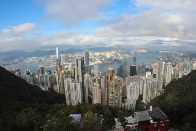 Hong Kong Island (Kowloon in the distance) from Victoria Peak, the highest point in the city.