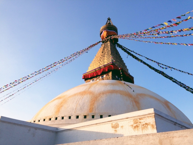 Saying 'bye bye' to Boudhanath and Kathmandu - so bittersweet, but I'll be back!