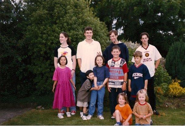 Cousins in Ireland, circa about 1998.
