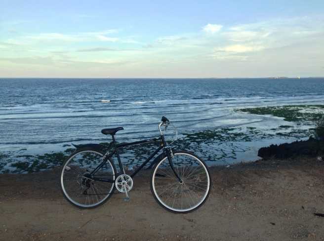 A solo Friday night bike ride at Coco Beach, Dar es Salaam