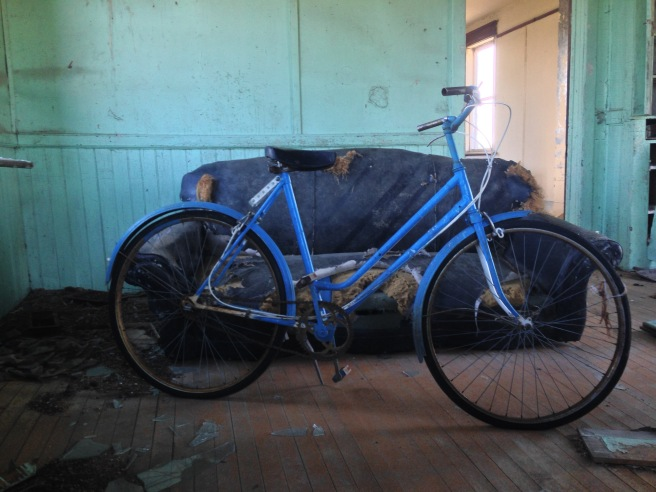The tempting blue bicycle